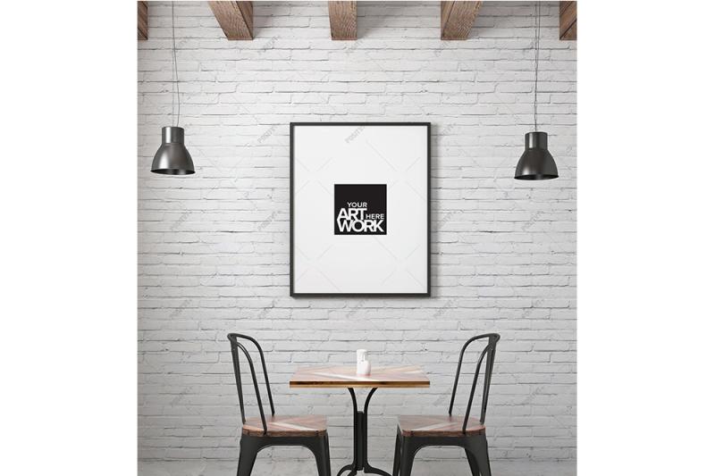 Free Poster Frame Mockup Industrial - Portrait (PSD Mockups)