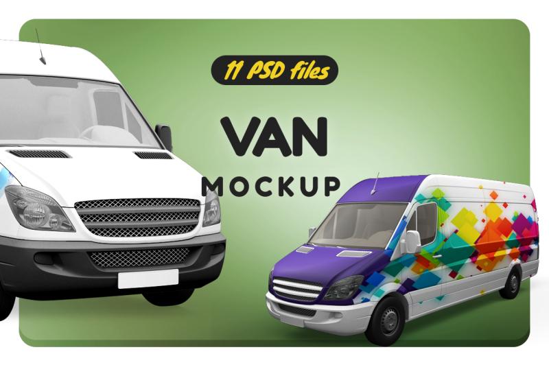 Free Van Mockup (PSD Mockups)
