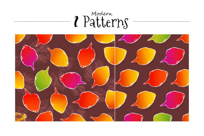 stamped-leaves-set