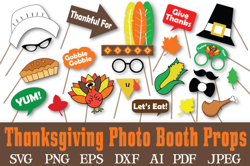 thanksgiving-photo-booth-props-svg-cut-files-dxf-png-jpeg-pdf-eps-ai