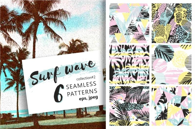 surf-wave-6-seamless-patterns