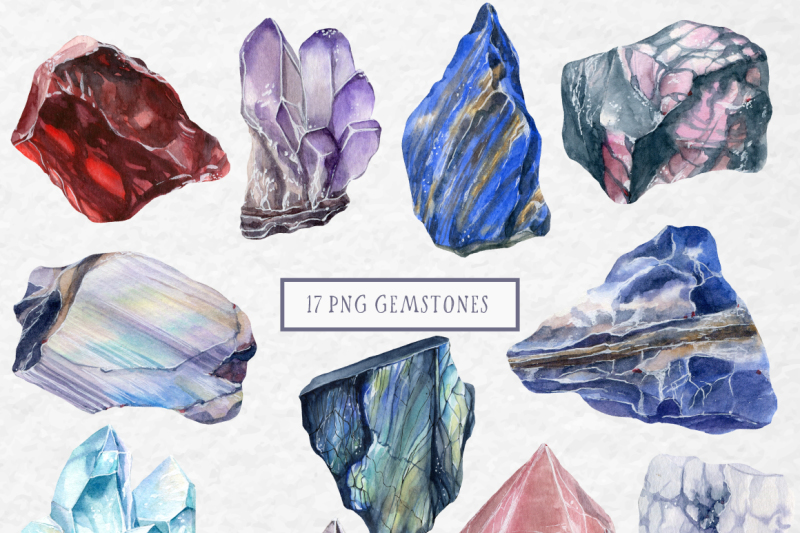 gemstones-watercolor-collection