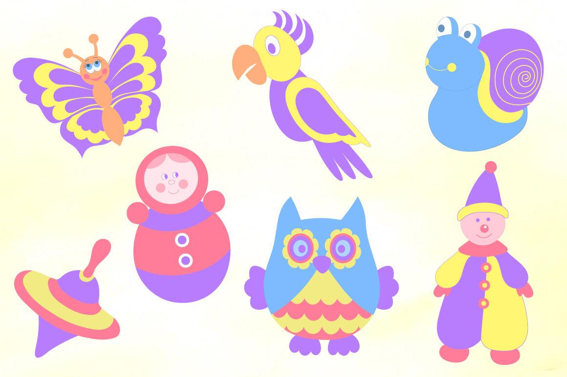 Cute baby toys vector set By Elen | TheHungryJPEG.com