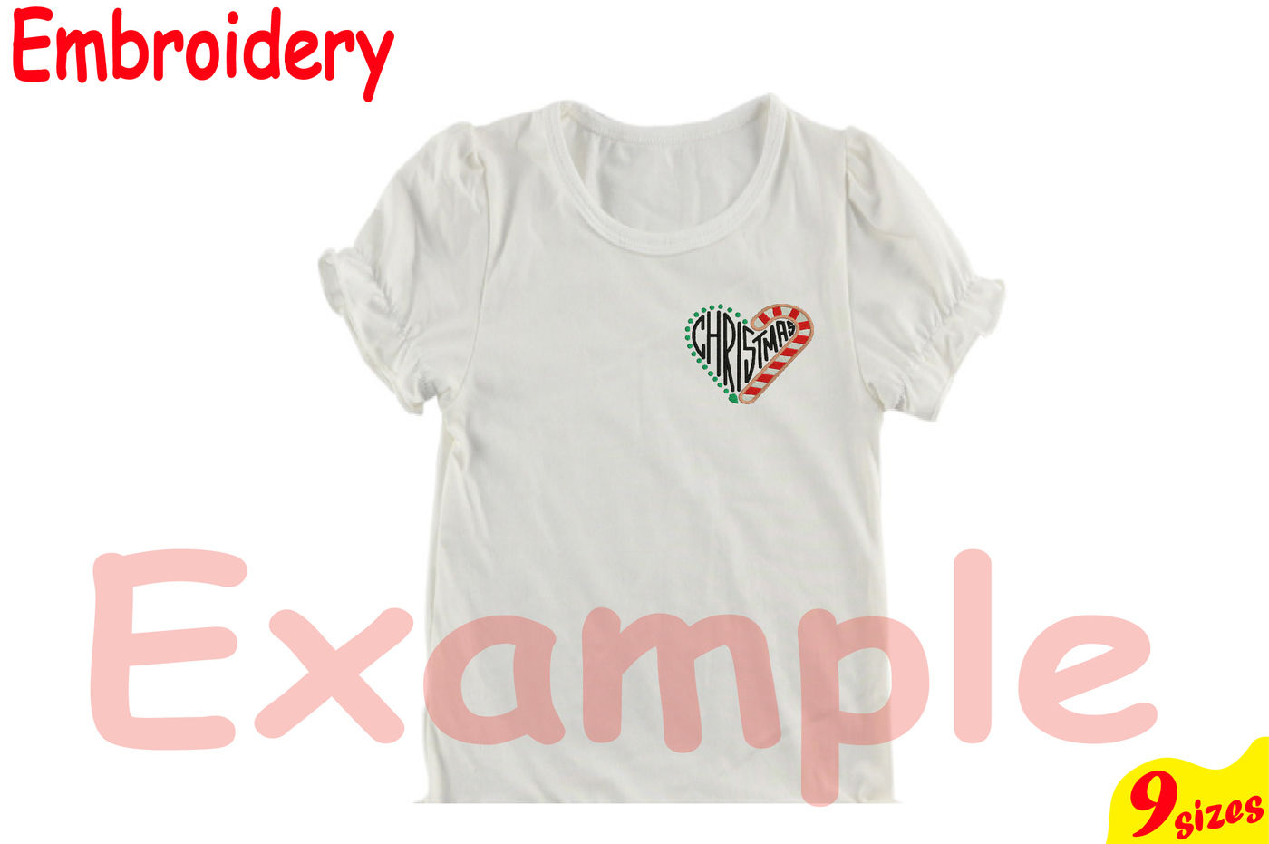 Christmas Heart Designs For Embroidery Machine Instant Download