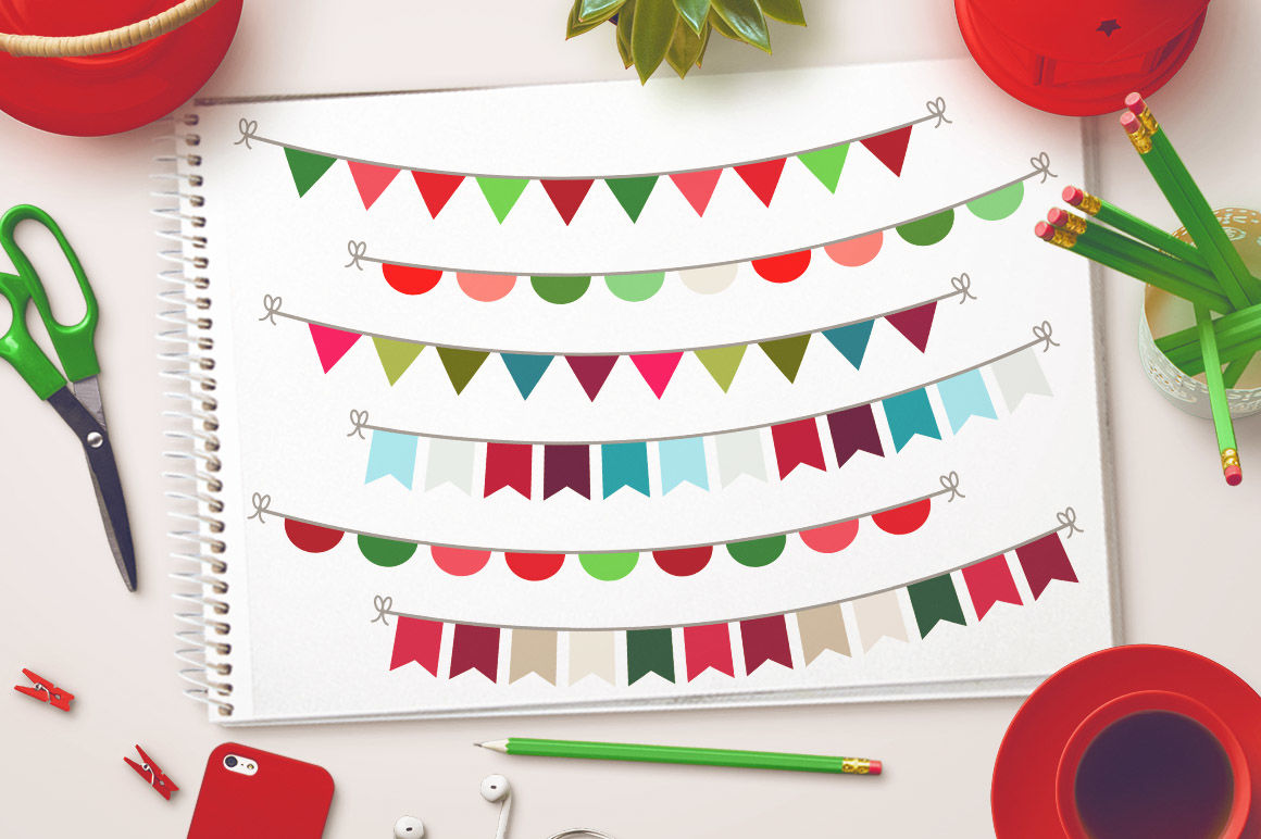 Christmas Bunting Clipart Christmas Clipart Holiday Bunting