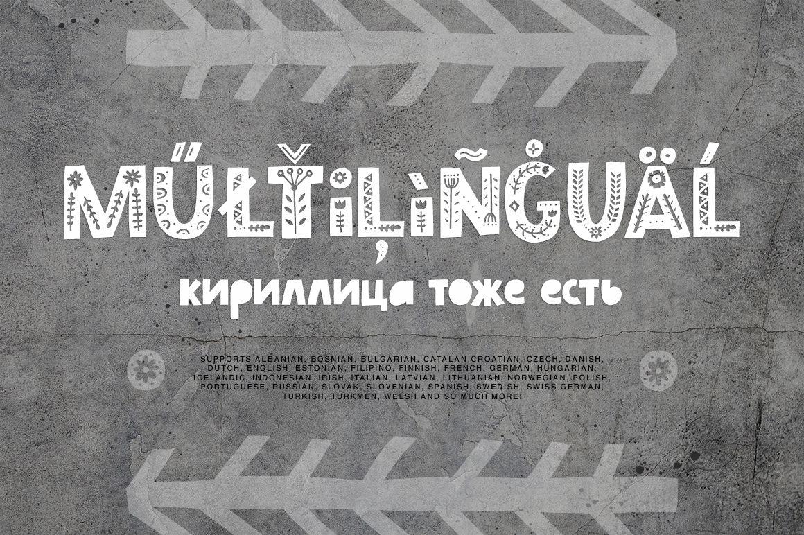 Scandinavian Font Family By Favete Art Thehungryjpeg Com