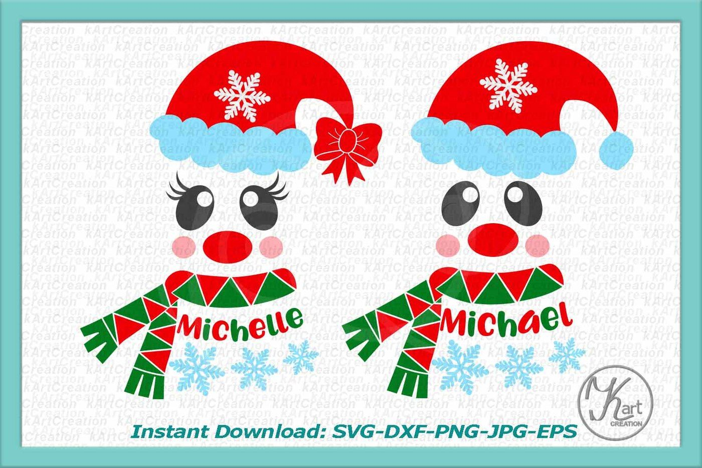 Santa Face Svg Boy Santa Face Svg Girl Santa Face Svg Kids