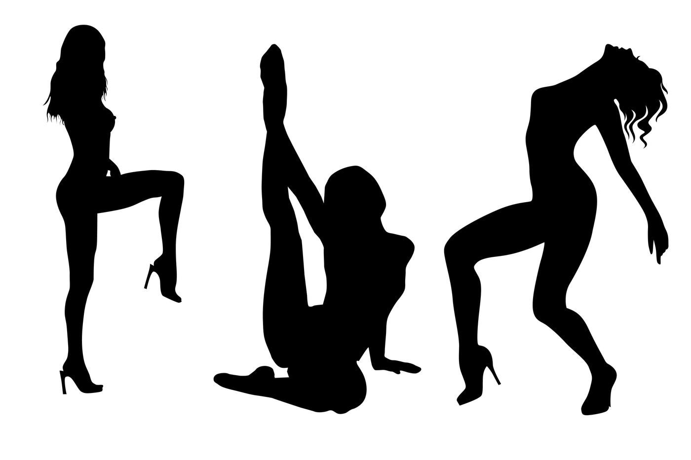 Sexy girl silhouette png svg eps dxf