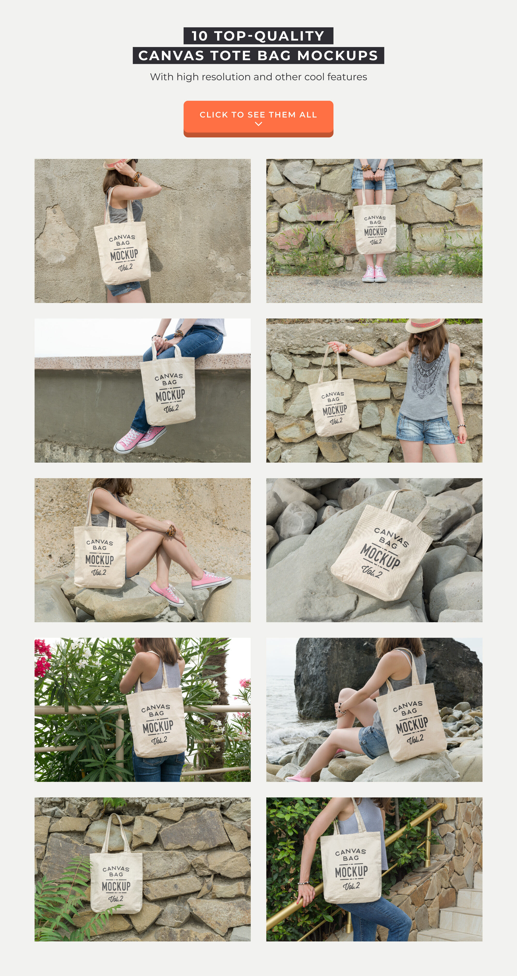 Download Canvas Bag Mockup Yellow Images