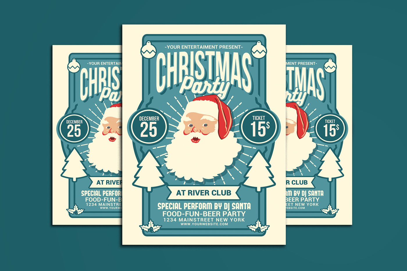 Christmas Party Flyer By Muhamadiqbalhidayat Thehungryjpeg