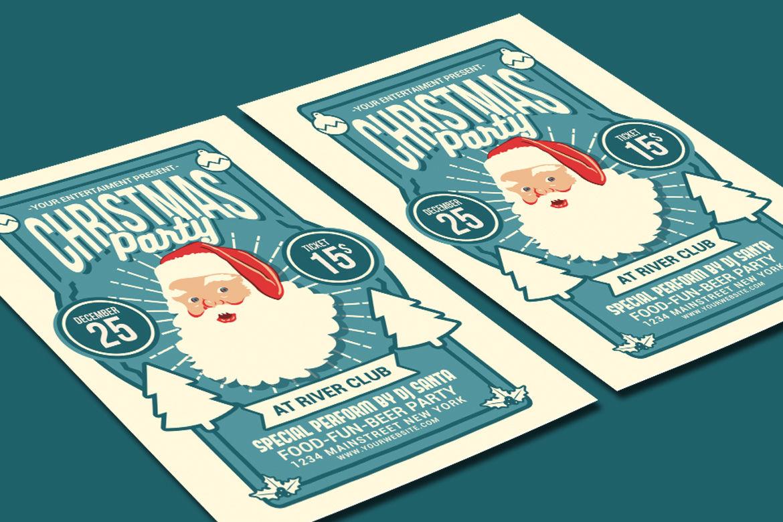 Christmas Party Flyer By Muhamadiqbalhidayat Thehungryjpeg Com