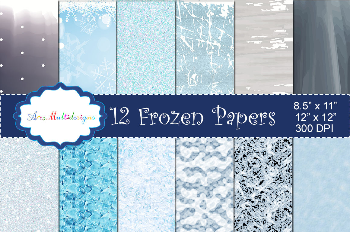 Frozen Christmas Digital Pattern Frozen Christmas Paper Digital Papers Gift Wrapper High Quality Digital Set 12 X 12 By Arcsmultidesignsshop Thehungryjpeg Com