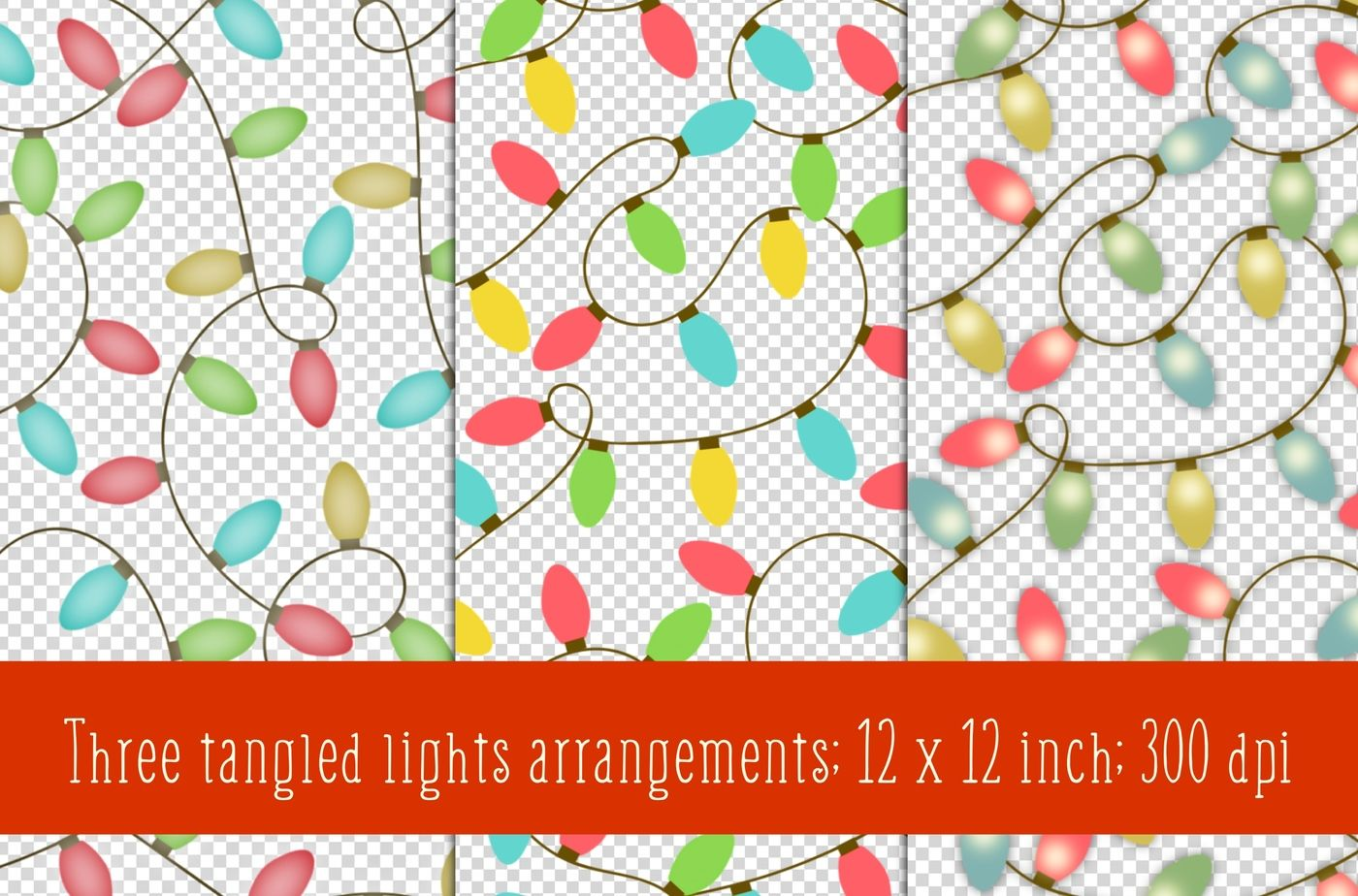 Christmas Lights Clipart By Paper Farms Thehungryjpeg Com