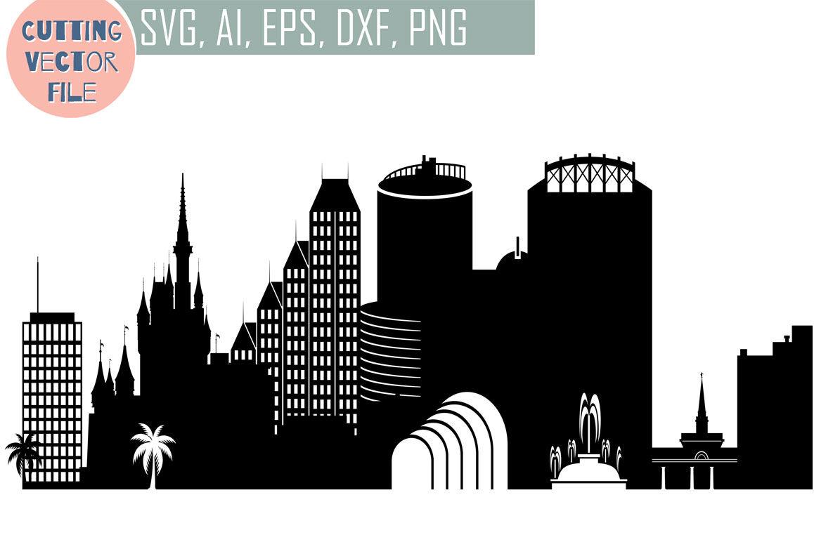 Orlando Vector Florida Usa Skyline Svg Png Jpg Eps Ai Dxf By