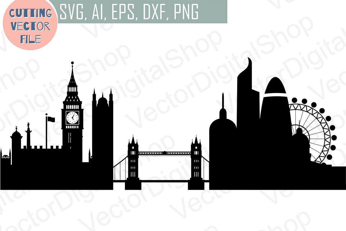 London vector England skyline SVG, PNG, JPG, EPS, AI, DXF By