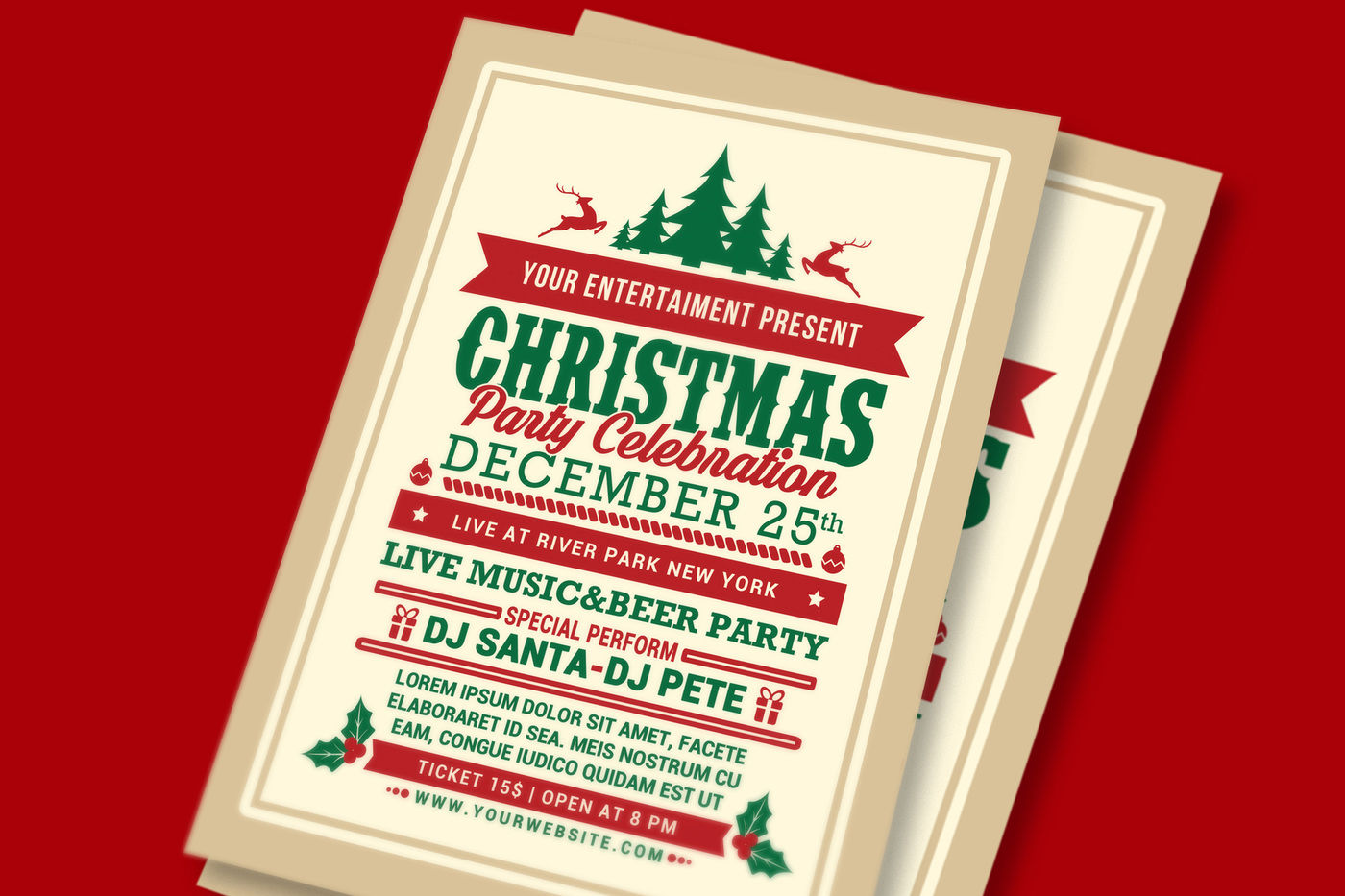 Christmas Party Celebration Flyer By Muhamadiqbalhidayat