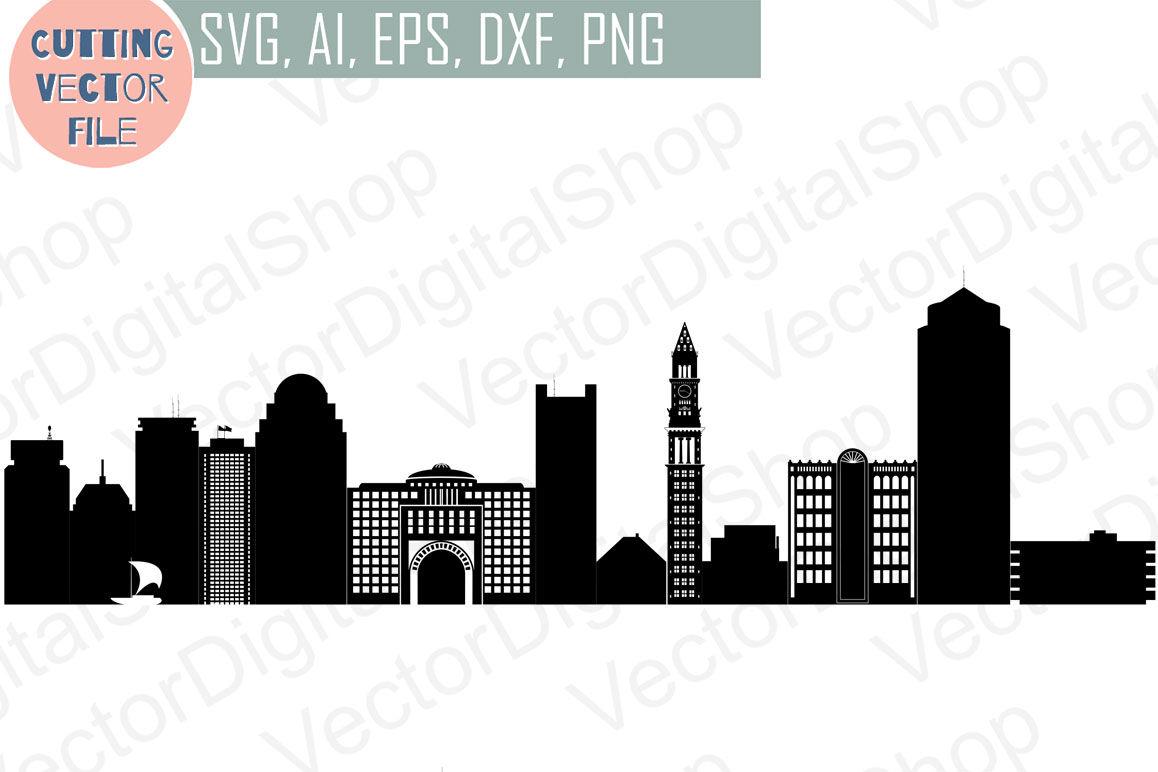 Boston vector MA USA skyline SVG, PNG, JPG, EPS, AI, DXF By