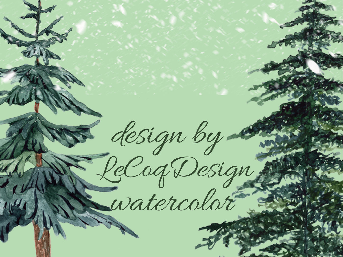 Conifers Trees Clipart By Lecoqdesign Thehungryjpeg Com
