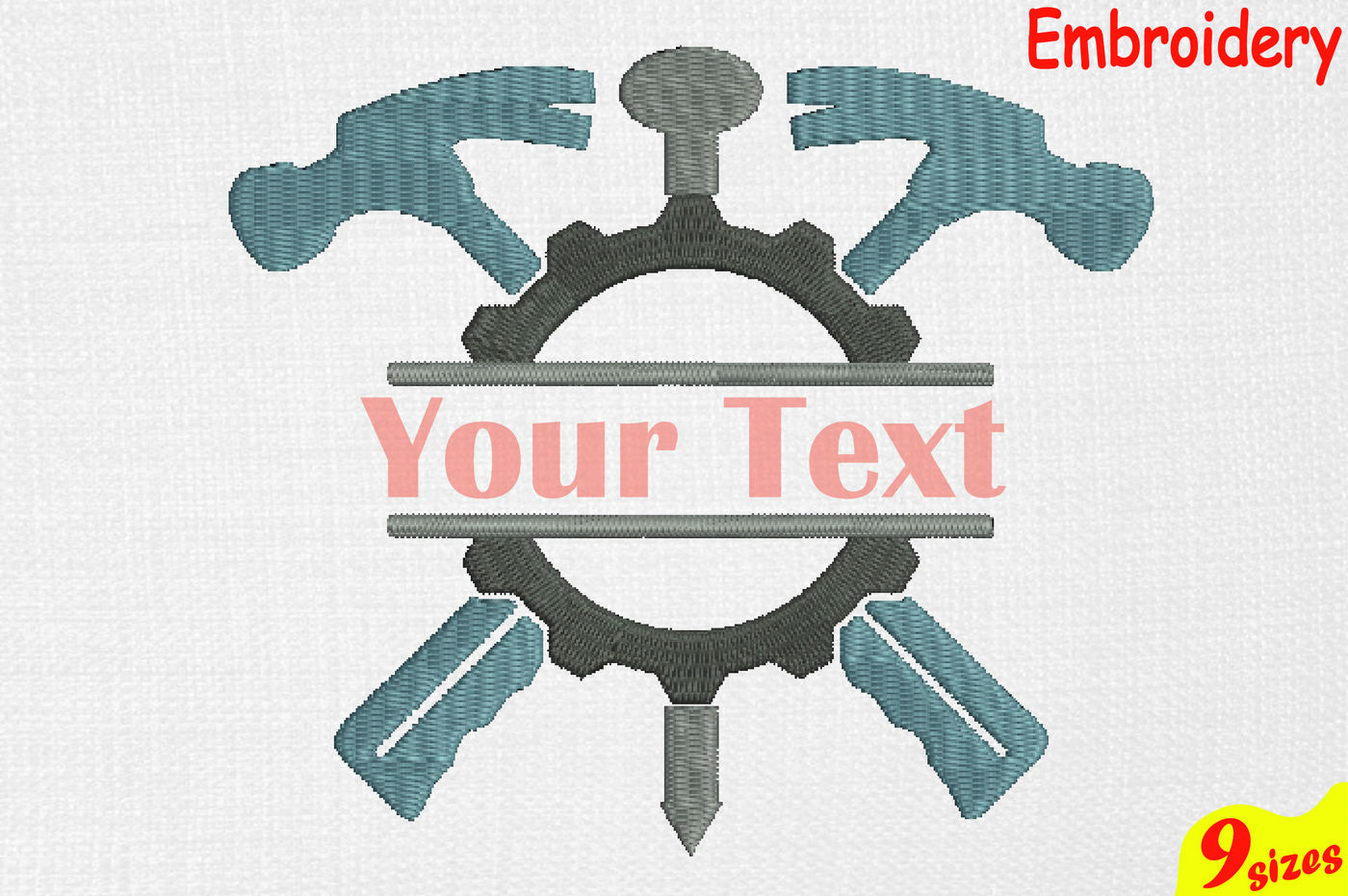 Split Mechanic Tools Designs For Embroidery Machine Instant