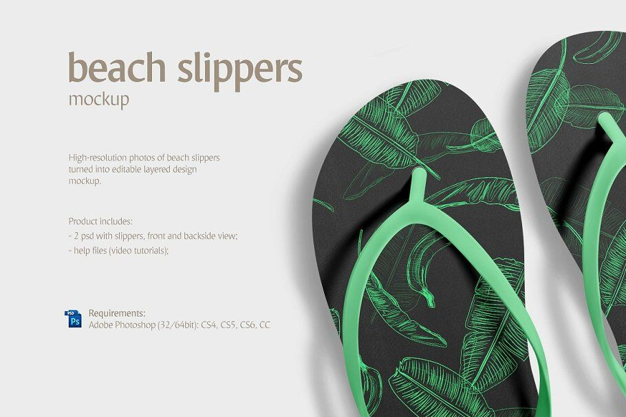 7a117104fcb1a Beach Slippers Mockup By rebrandy | TheHungryJPEG.com
