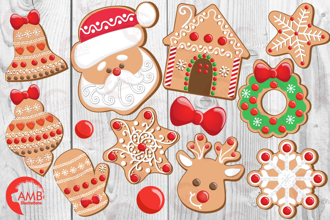 Baking Christmas Cookies Clipart.Christmas Cookies Clipart Graphics Illustrations Amb 1539