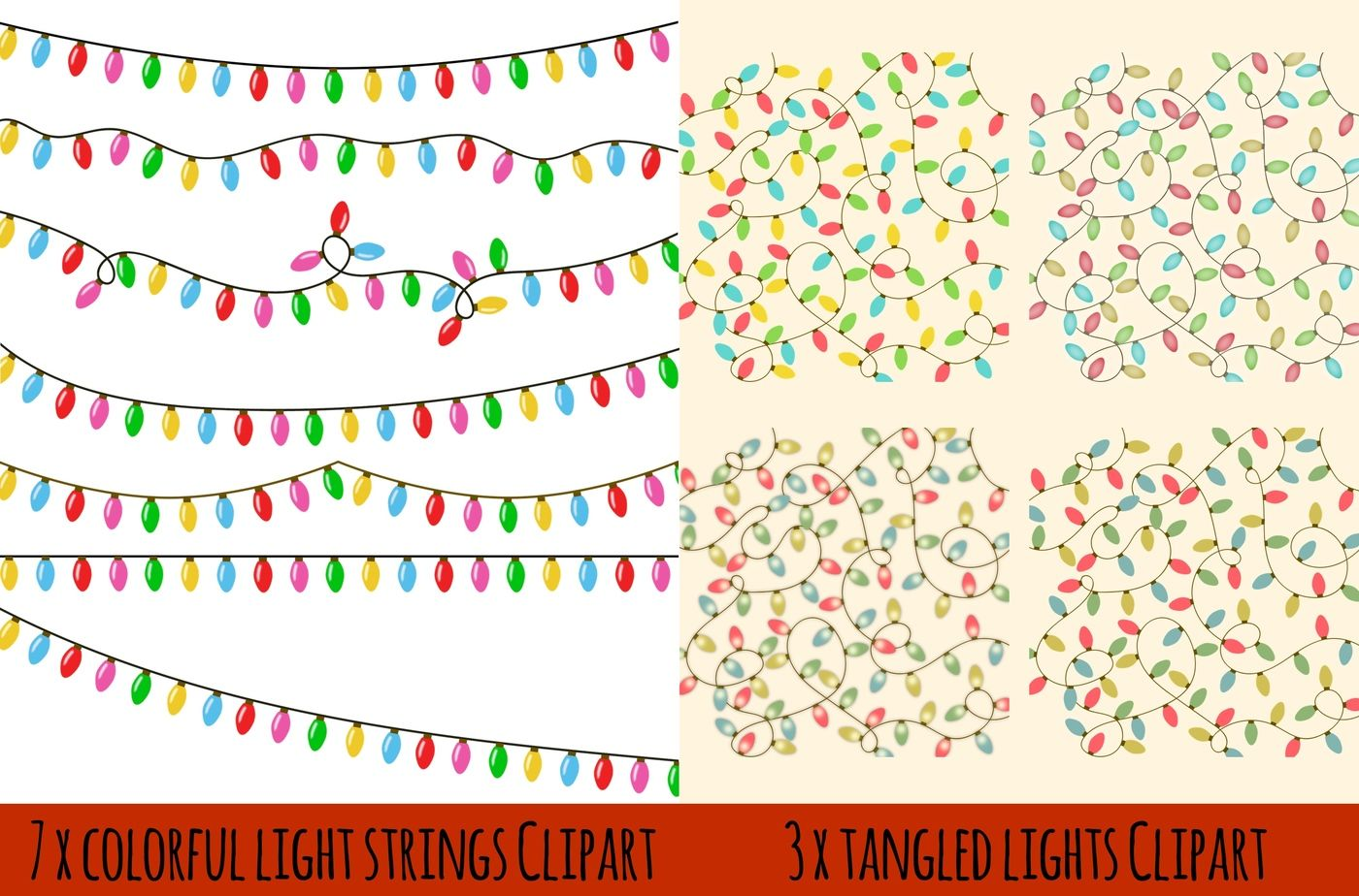 Christmas Lights By Paper Farms Thehungryjpeg Com