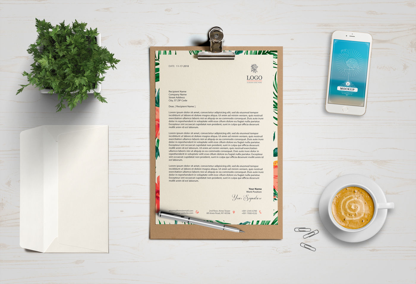 Download Invoice Psd Mockup Yellowimages