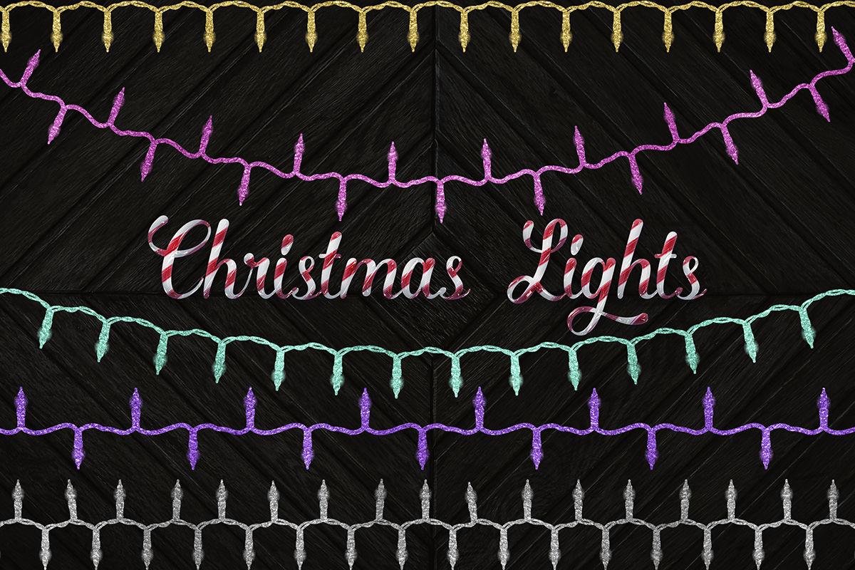 Christmas Lights Clipart By North Sea Studio Thehungryjpeg Com