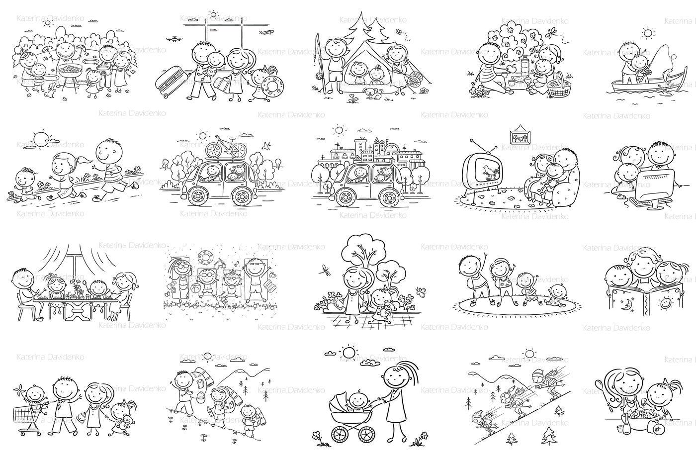 Family Activities Bundle By Optimistic Kids Art Thehungryjpeg Com