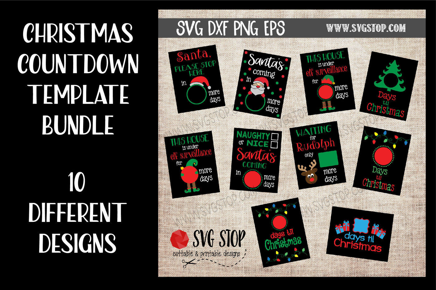 Christmas Countdown Design Bundle By The Svg Stop Thehungryjpeg Com