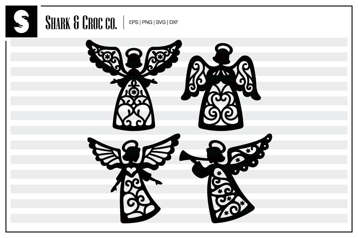 Christmas Angel 1 Cut Files By Shark Croc Co Thehungryjpeg Com