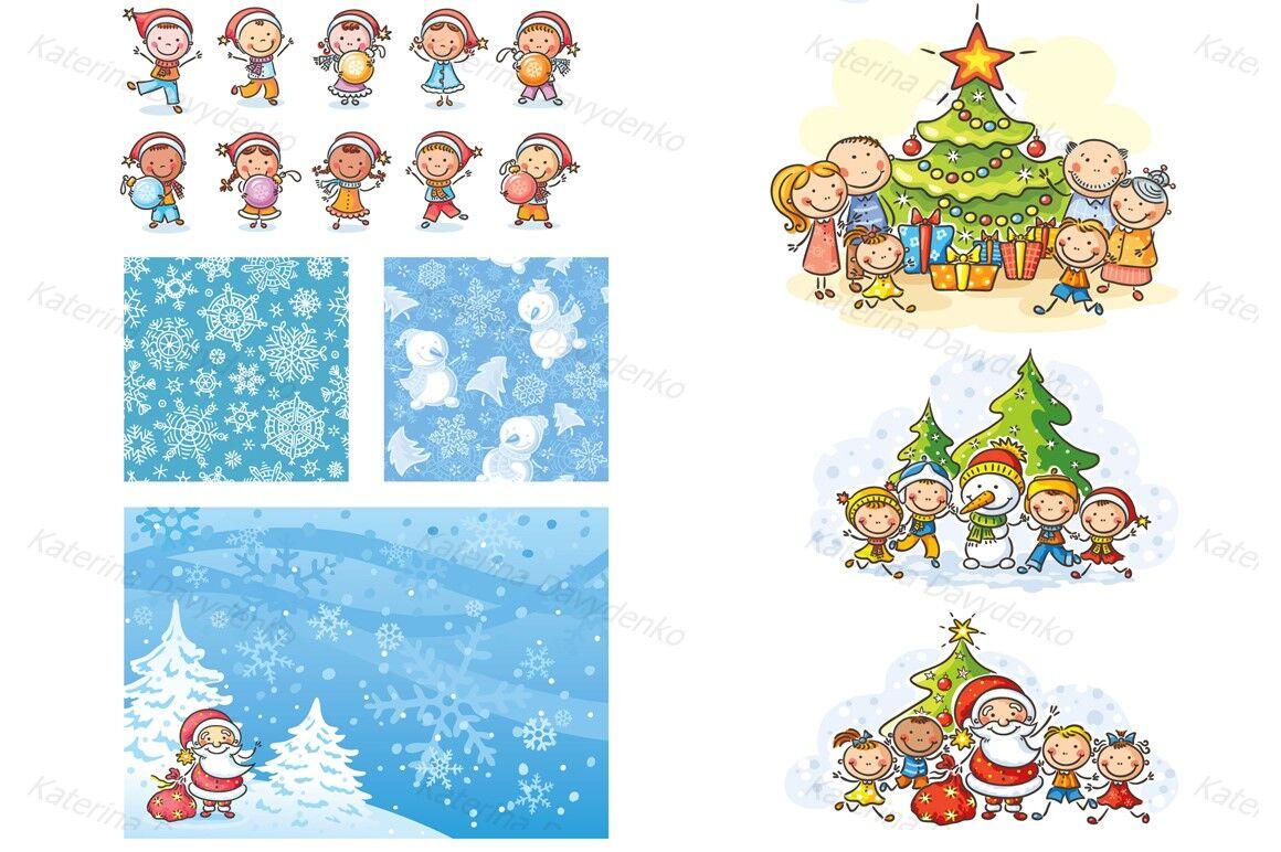 Christmas And Winter Bundle By Optimistic Kids Art Thehungryjpeg Com