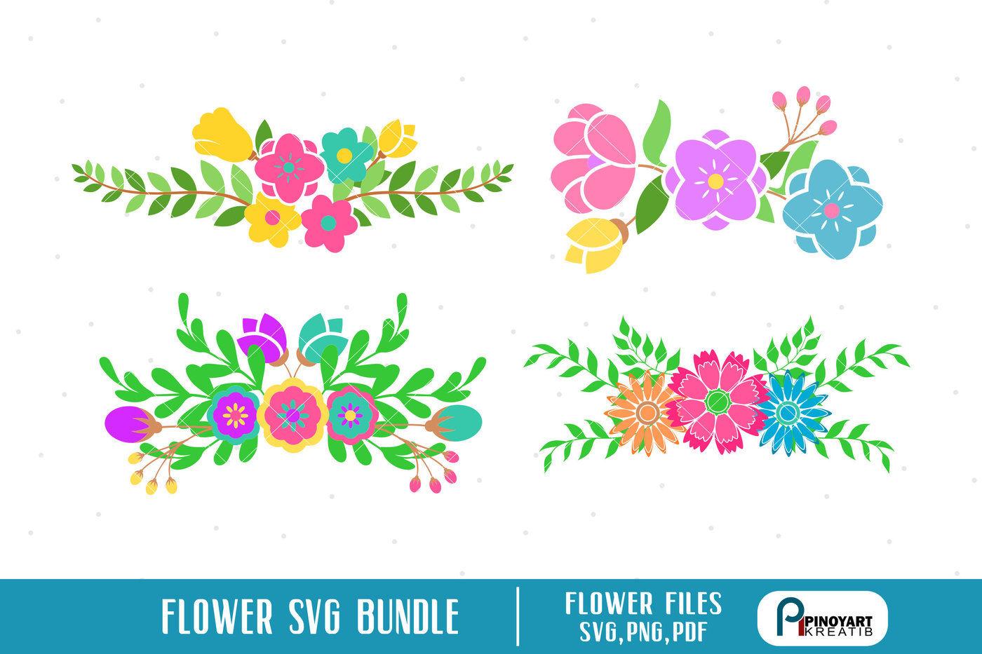 Flower Svg Flower Svg File Flower Png Flower Pdf Flower Clip