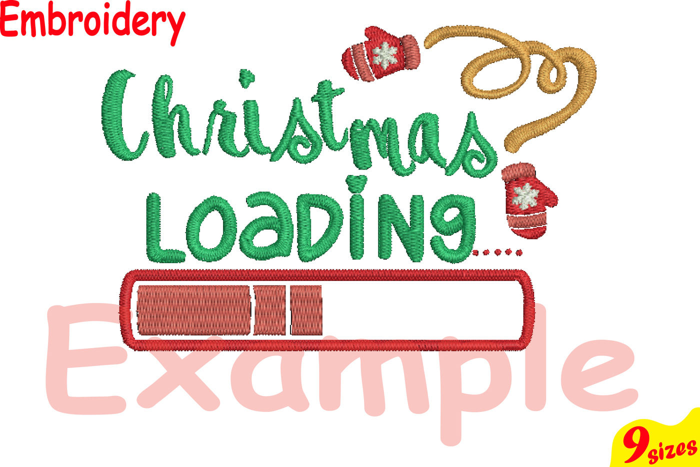 Christmas Loading Designs For Embroidery Machine Instant Download
