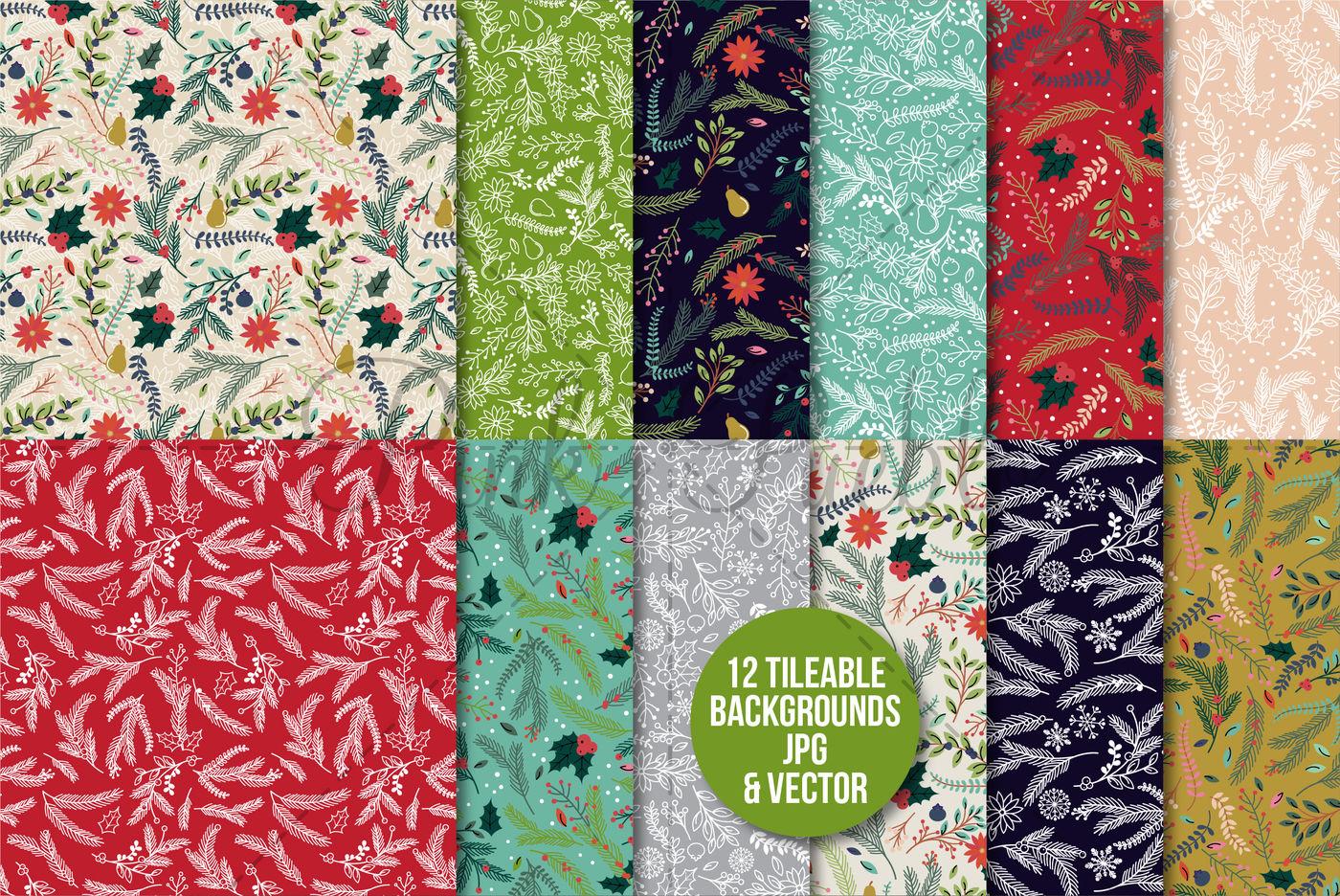 The Epic Floral Christmas Bundle By Devon Carlson Thehungryjpeg Com