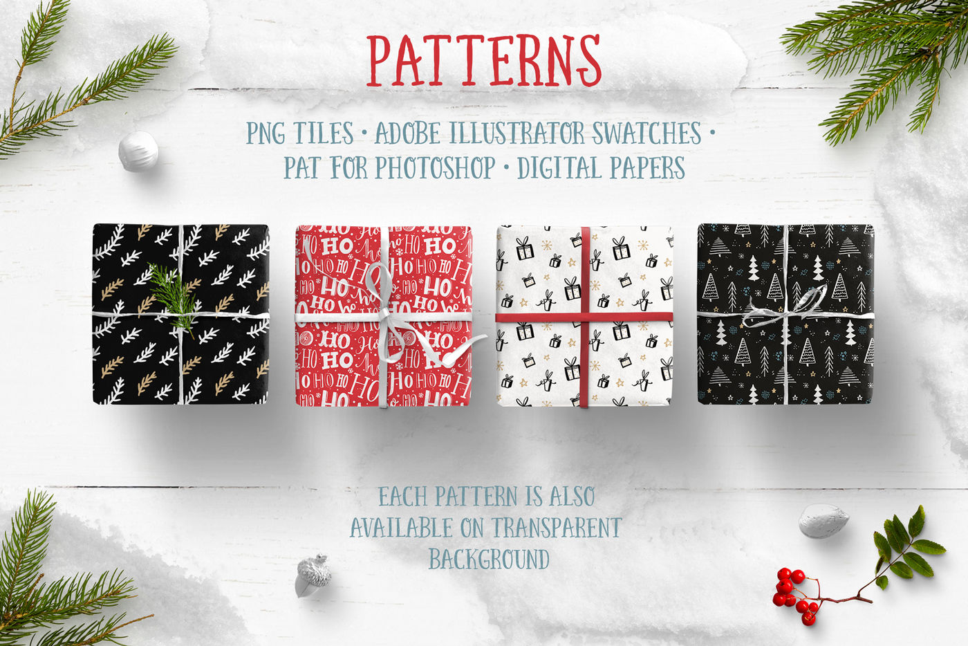 Christmas Graphics Collection By Pffpics Thehungryjpeg Com
