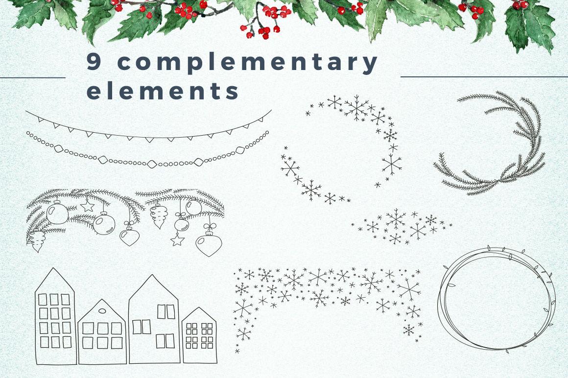 Watercolor Scandinavian Christmas By Fancy Watercolor