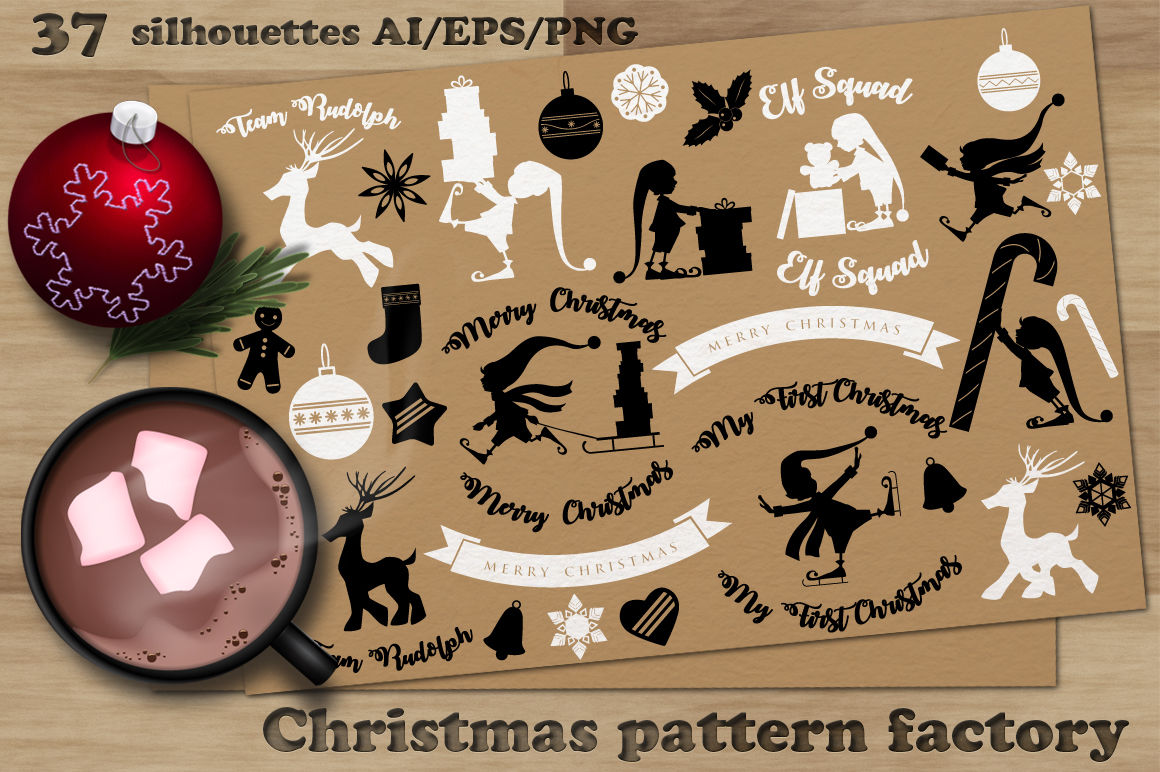 Christmas Pattern Factory Merry Christmas Bundle By Natalydesign