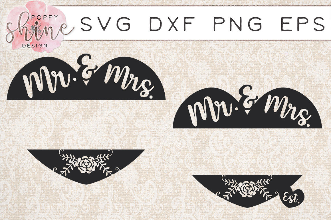 Mr Mrs Monogram Frame Bundle Svg Png Eps Dxf Cutting Files By