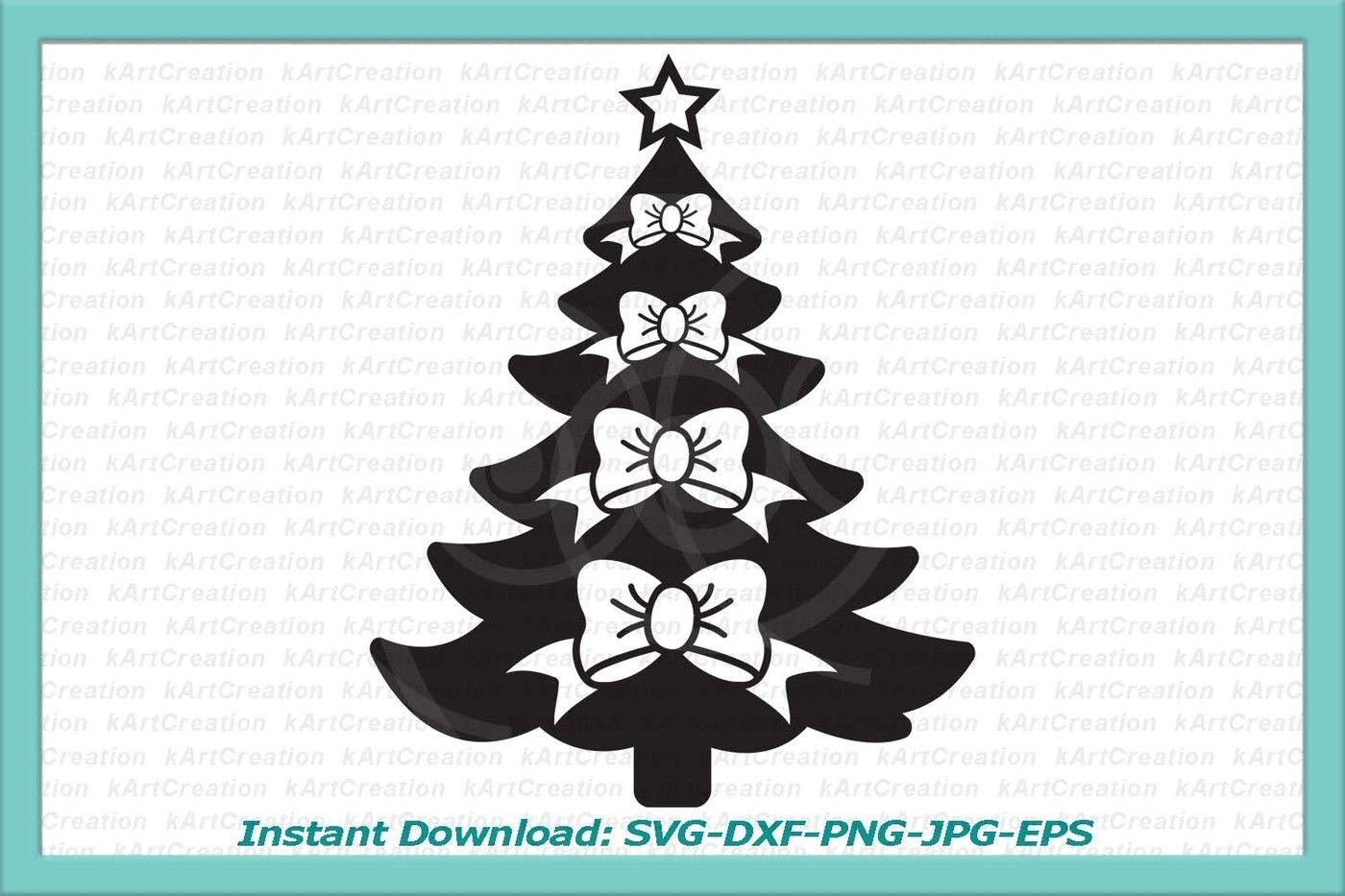 Christmas Tree Svg Christmas Svg Bow Svg Cuttable Design