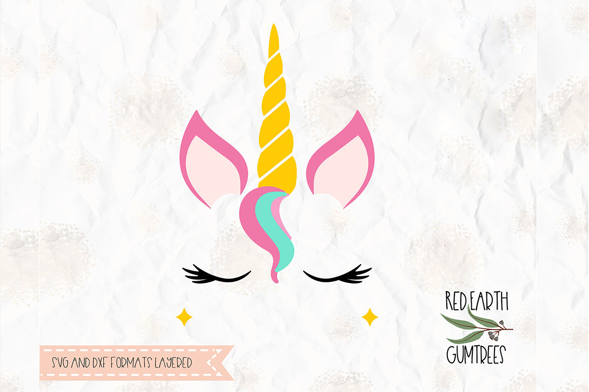 Unicorn With Lashes Cut File In Svg Dxf Png Pdf Eps Formats By