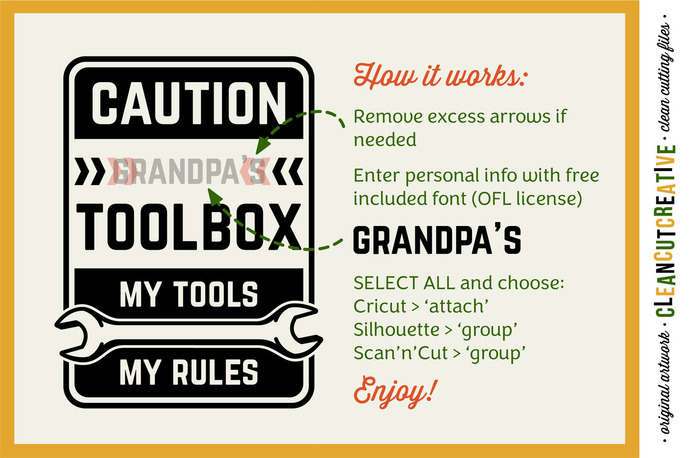 Diy Personalized Men S Toolbox Decal Design My Tools My Rules