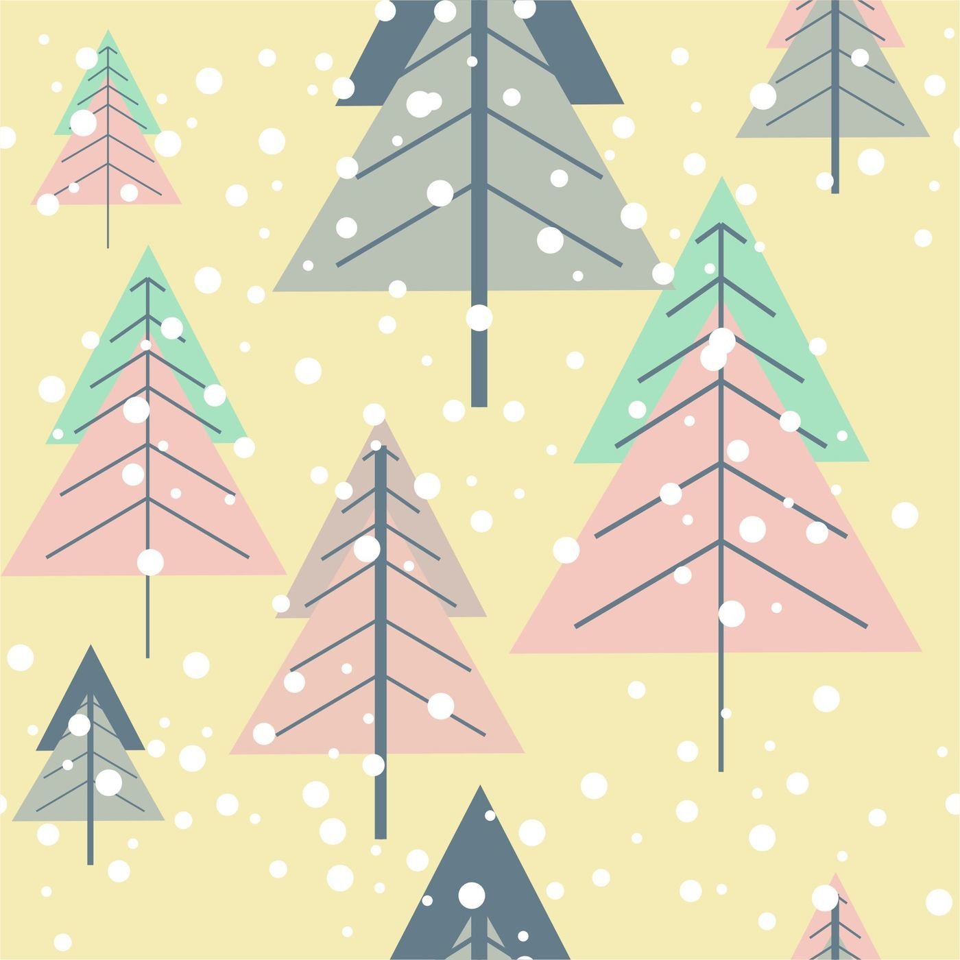 Pastel Christmas Digital Paper By Brandcarry Thehungryjpeg Com