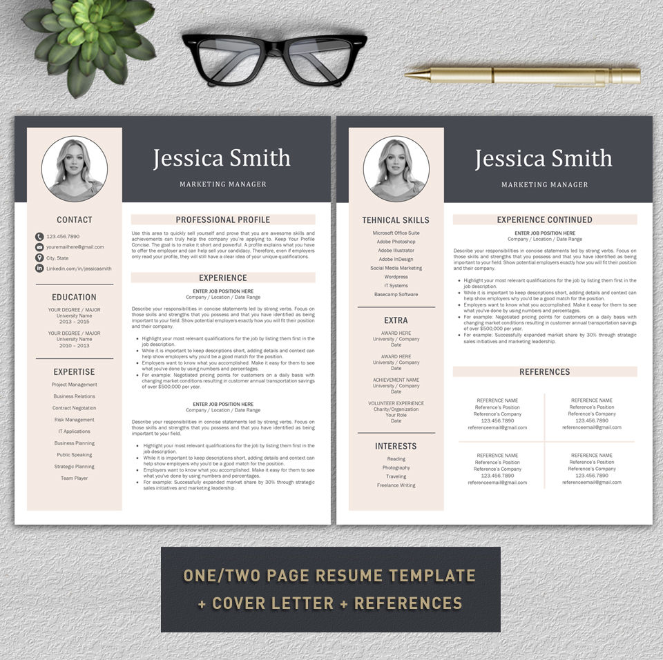 resume template    cv template    professional resume    modern cv    lebenslauf by prographicdesign