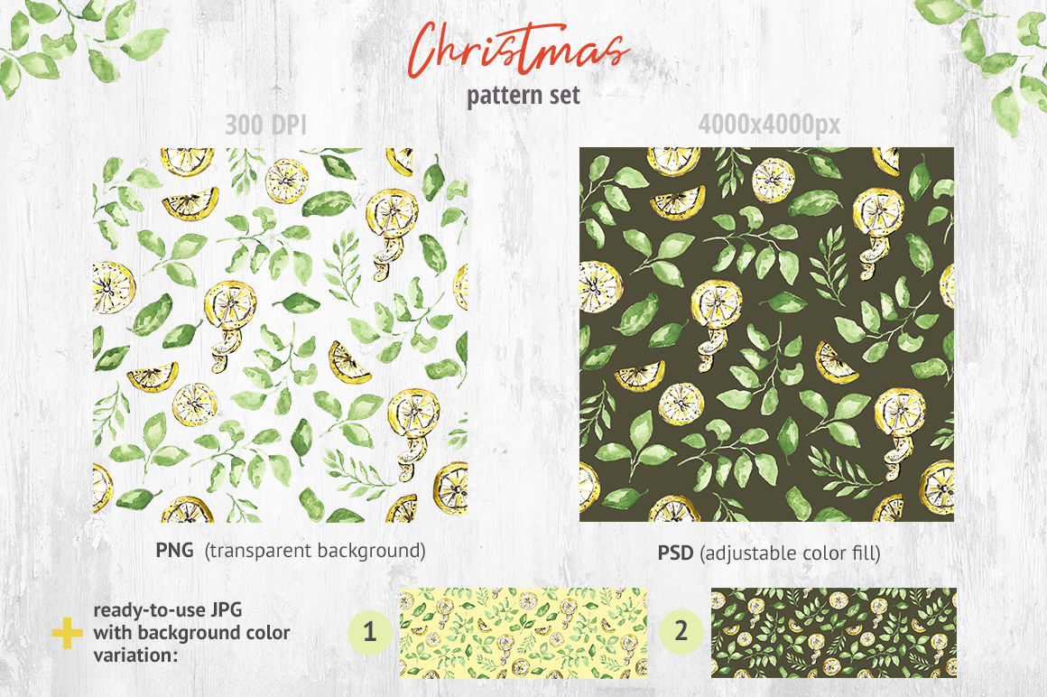 Christmas Pattern Collection By Zzorna Art Thehungryjpeg Com