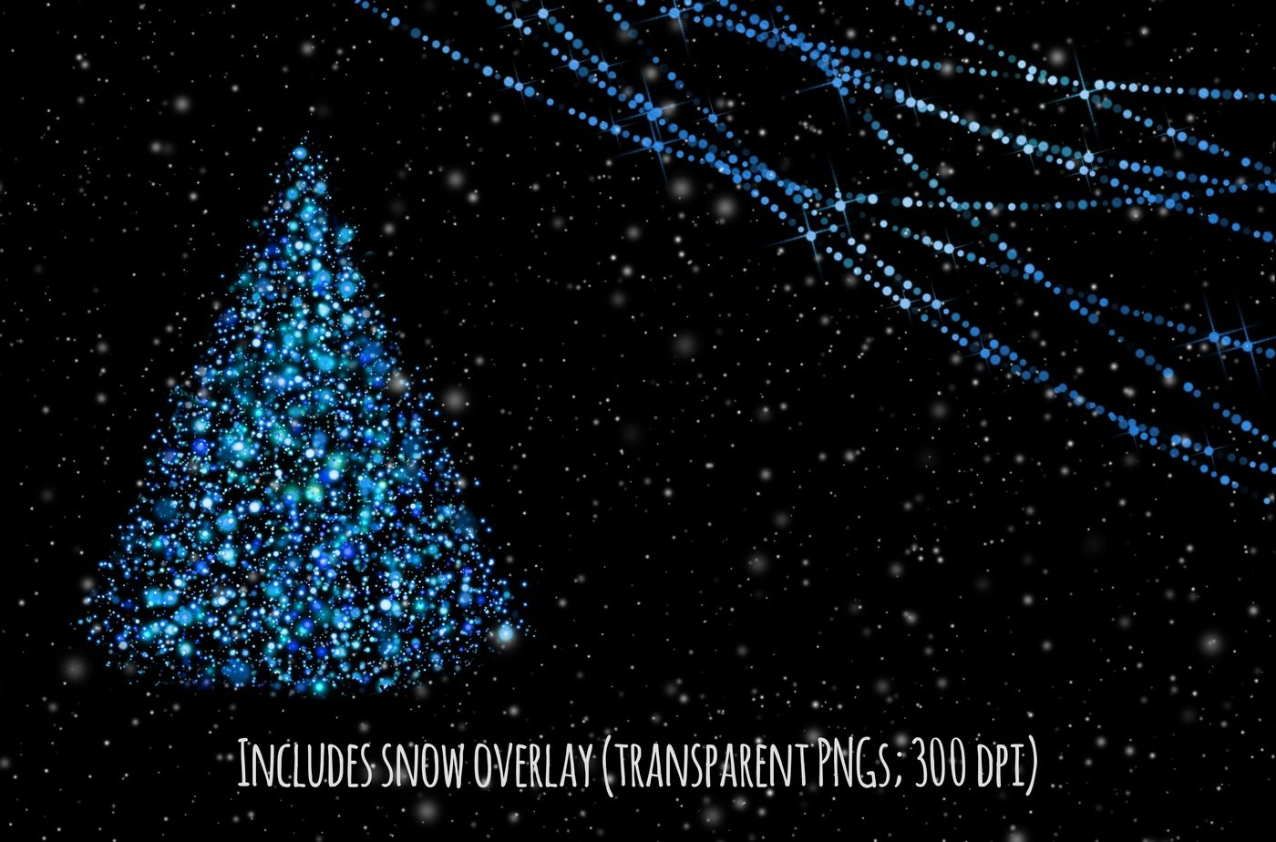Glowing Christmas Tree Clipart By Paper Farms Thehungryjpeg Com