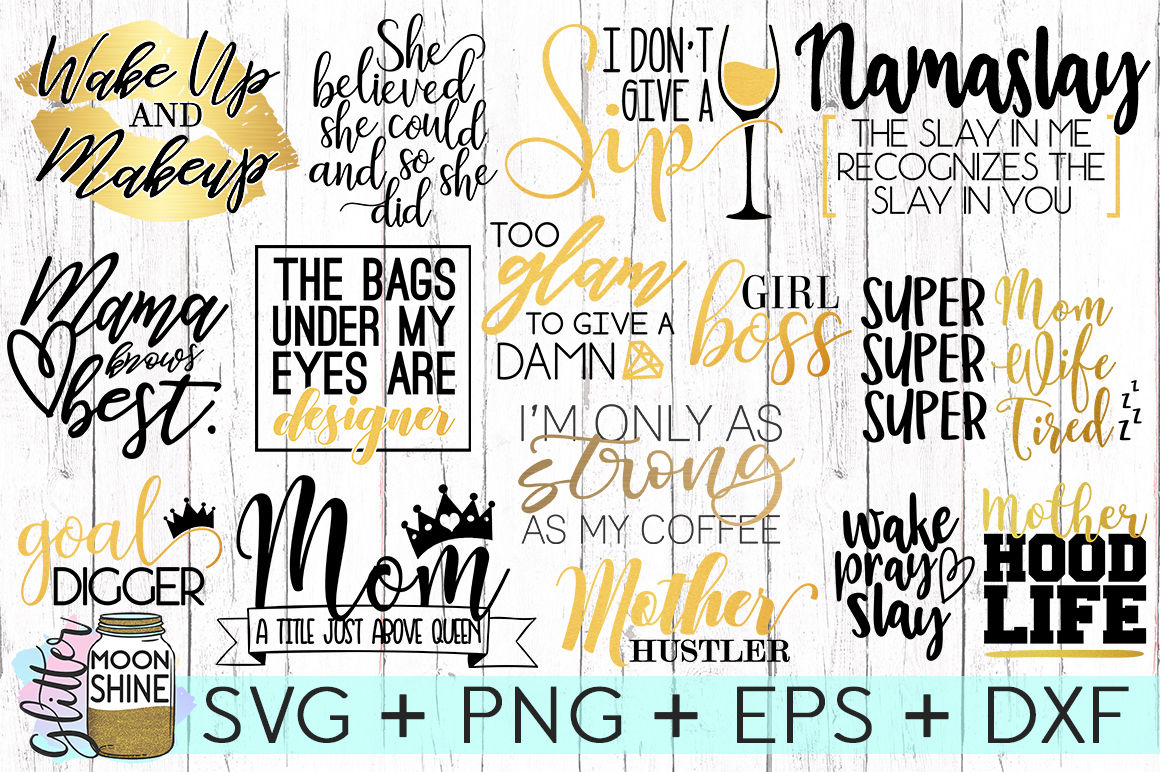 Mom Boss Bundle Of Svg Png Dxf Eps Cutting Files By Glitter Moonshine Svg Thehungryjpeg Com