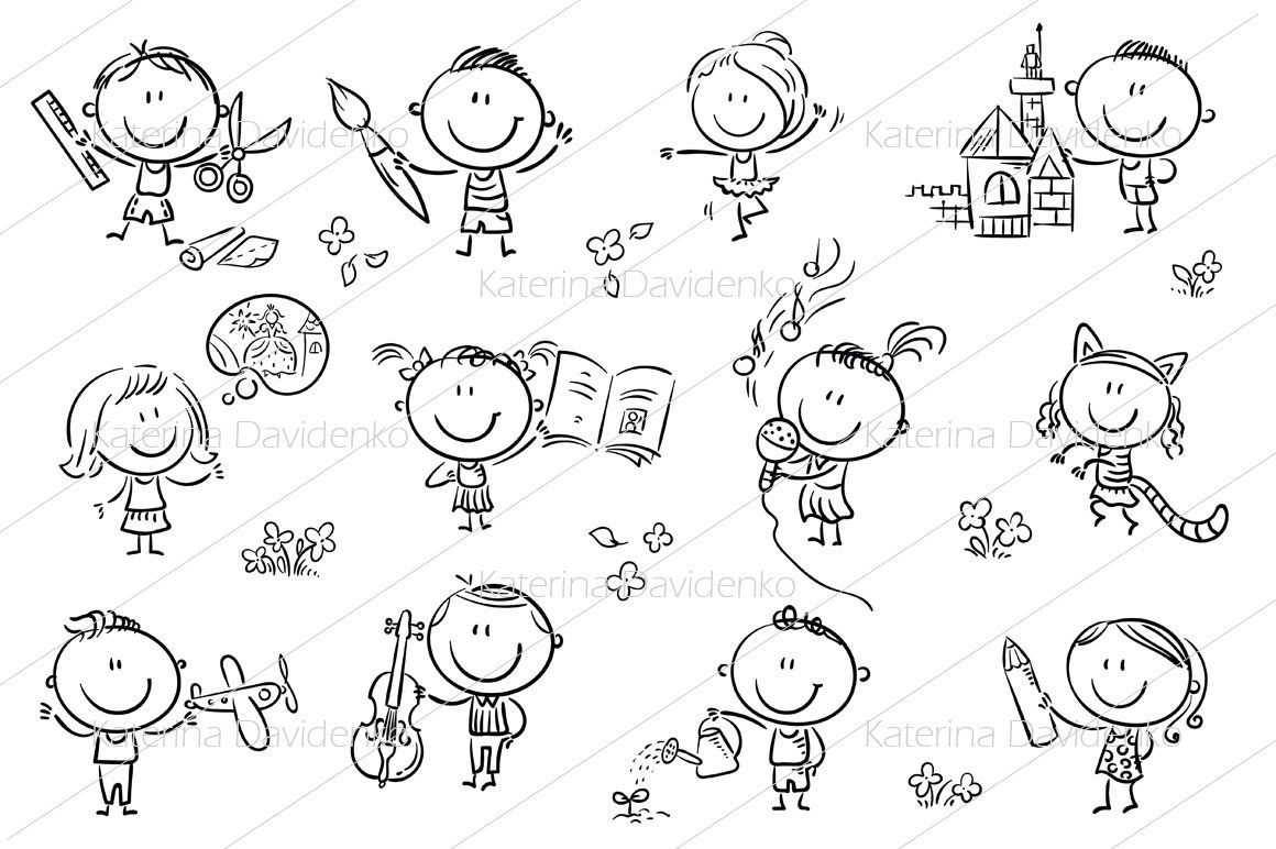 Kids Engaged In Different Creative Activities By Optimistic Kids