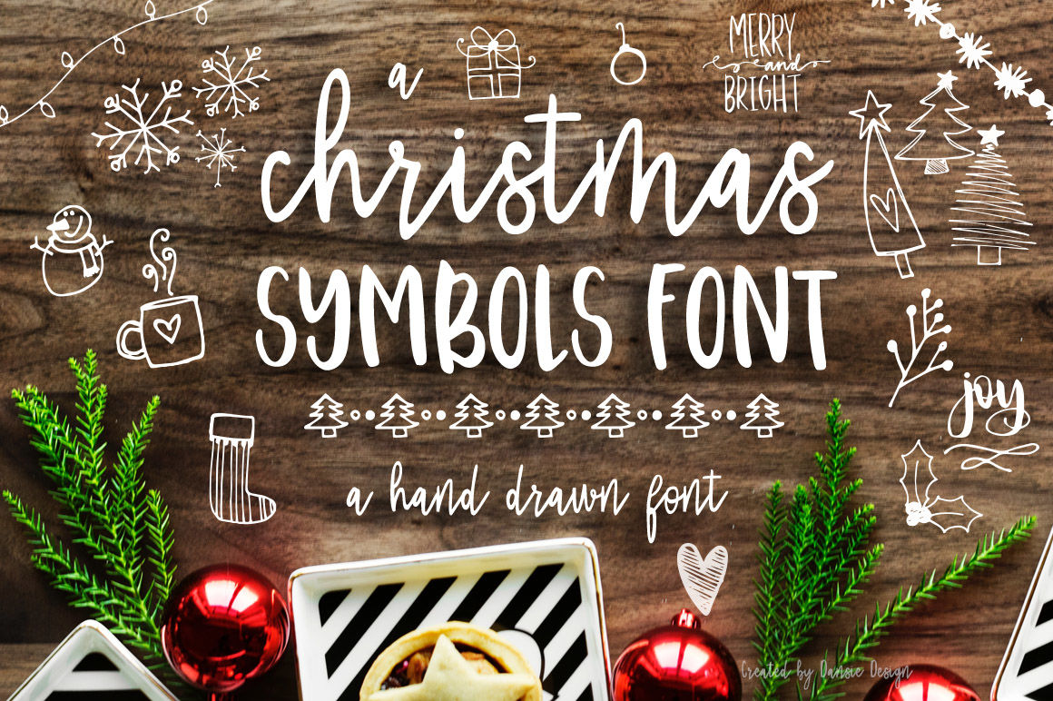 40 Christmas Photo Overlays Free Symbols Font By Dansie Design