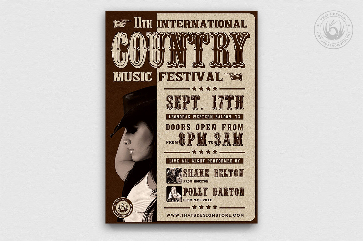 Country Live Flyer Template V7 By Thats Design Store